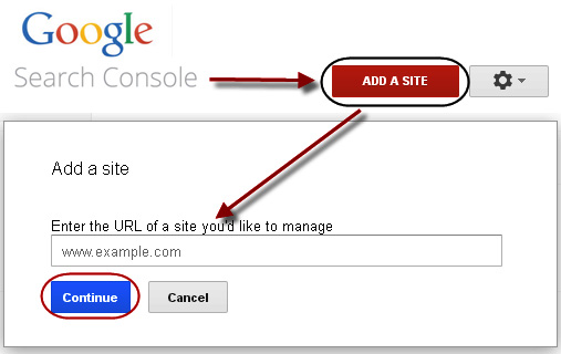 Google Search Console - vnos domene